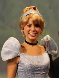 Here's Amy mugging for the camera as Cinderella!
