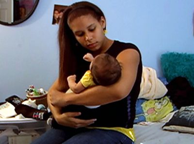 Cleondra and Kylee on '16 and Pregnant' in 2011.