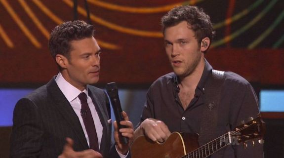 This must've been the moment Ryan explained the 'Idol' contract to Phillip...