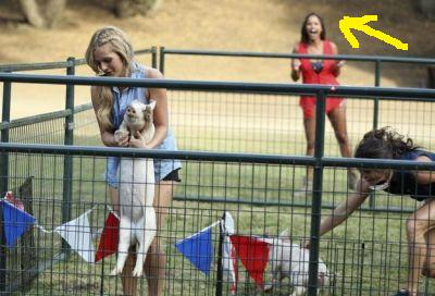 That awkward moment...that you're way too excited for the pig catching contest...