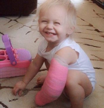 """Paislee modeling her new """"accessory."""""""