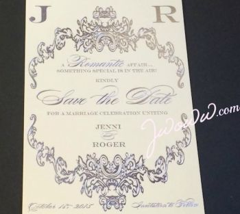 Jenni and Roger's Save the Date card