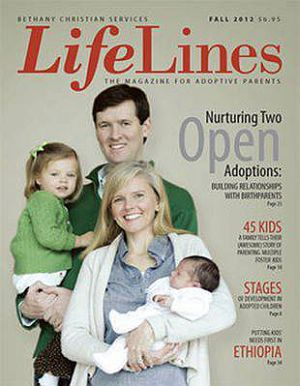 Brandon, Teresa, their adopted son, and Carly on the magazine cover in 2012.