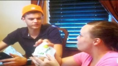 """""""A baby AND Barbeque Lays? Hot damn, this is a celebration!"""""""