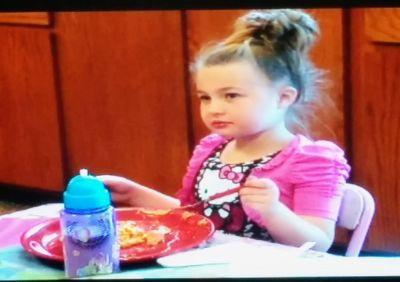 """I think I just saw that guy pocket my mom's pancake skillet!"""