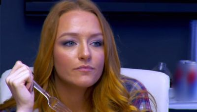 Maci, as she considers stabbing Farrah in the plastic face with a plastic fork.