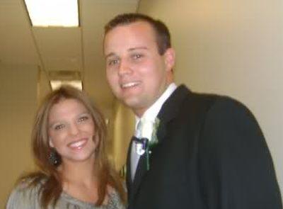 Amy and Josh, shown at Josh's 2008 wedding...