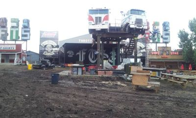 Part of the Full Throttle Saloon's backyard, before the fire...