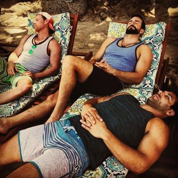 Kirk and the guys caught up on some sleep while in 'Paradise.'