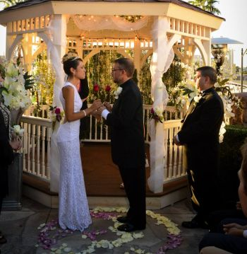 One of Jason and Cassia's two weddings...