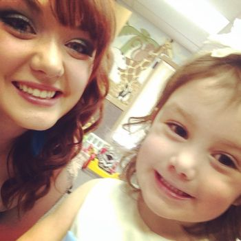 Katie and her four-year-old daughter Molli