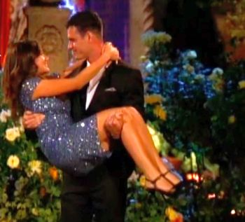 Raise your hand if you were kinda hoping he accidentally dropped her when she jumped in his arms?