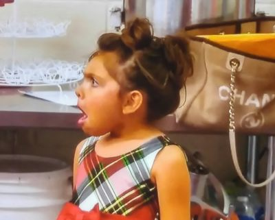 This was the actual face Sophia was making during Farrah's underwear photoshoot.