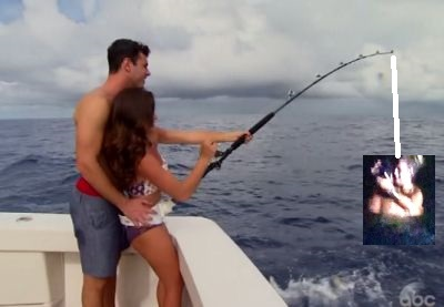 """""""Juan Pablo and Clare, get out of the ocean! We're trying to fish, geez..."""""""