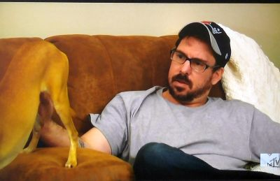 Um...what part of the dog is Matt rubbing here? Please tell me its his leg...