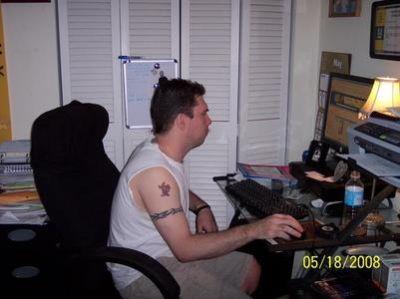 Matt inside of Judy's home in 2008.