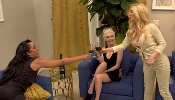 """""""Cheers to being the biggest trainwrecks on this show...kind of!"""""""