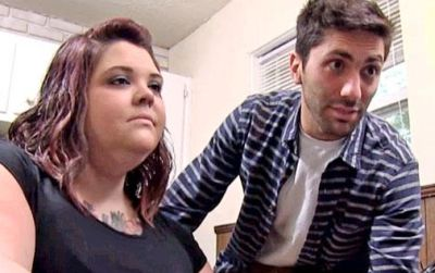Ashley with 'Catfish' star Nev Schulman in 2013...