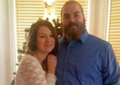 Lekota and Matt at their December 2015 wedding...