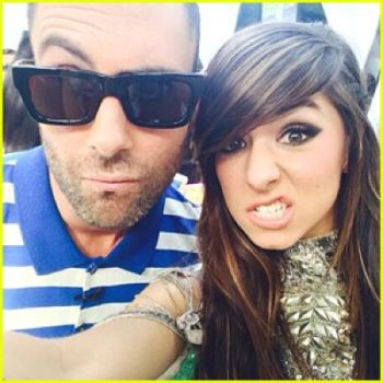 Adam posted this photo of himself with Christina to Twitter after her death...