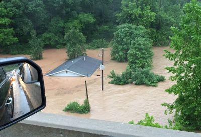 Gary Shirley posted this photo he took while driving through Kanawha County on Thursday.