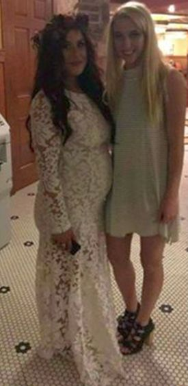 A closer look at Chelsea's dress...