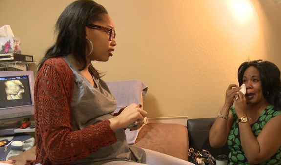 Grandma-to-be Prudence gets emotional with her pregnant teen daughter...