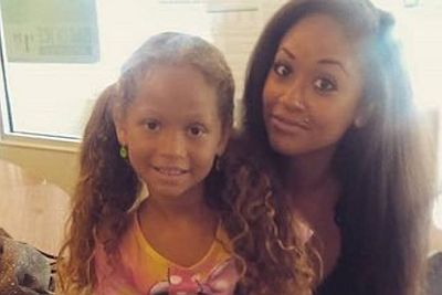 Valerie with her daughter Nevaeh earlier this year...