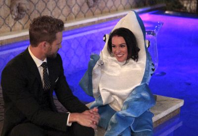 I respect her commitment to the shark costume. I really do...